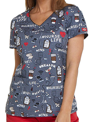 Dickies EDS Women's Nurse Life V-Neck Top