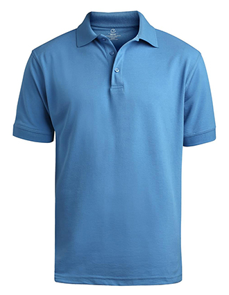 Men's Short Sleeve Soft Touch Blended Pique Polo