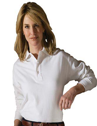 Soft Touch Long Sleeve All Cotton Pique Polo