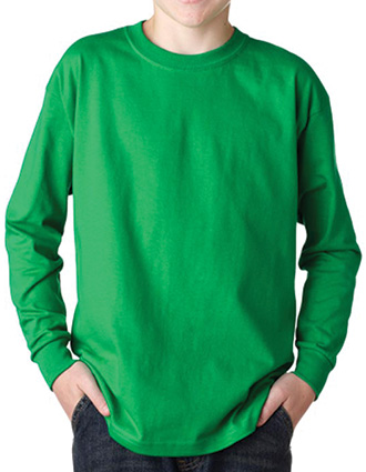 2400B Gildan Youth Ultra Cotton Long-Sleeve T-Shirt