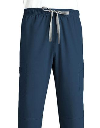 Grey's Anatomy Men's Six Pocket Elastic Cargo Scrub Pant