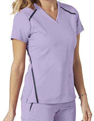 Grey's Anatomy Impact Women's Cross Over V-neck Contrast Top