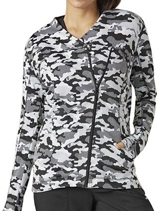 Grey's Anatomy Impact Women's Camo Asymmetric Zip Printed Jacket