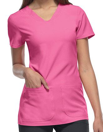 HeartSoul Women's Pitter-Pat Shaped V-Neck Scrub Top