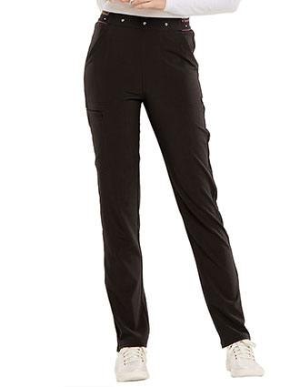 HeartSoul Women's Logo Elastic Waistband Adored Natural Rise Tapered Leg Petite Pant