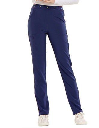 HeartSoul Women's Logo Elastic Waistband Adored Natural Rise Tapered Leg Tall Pant