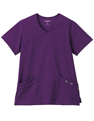 Jockey Modern Ladies Asymmetrical Grommet Fashion Top