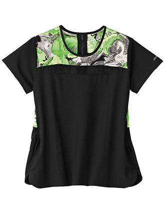 Jockey Performance RX Women's Kinetic Grey Print Top