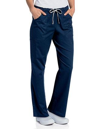 Landau Womens All Day Full Elastic Cargo Scrub Pant