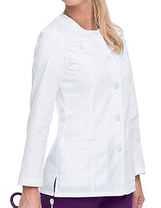 Landau Missy Smart Stretch Solid Nursing Scrub Jacket