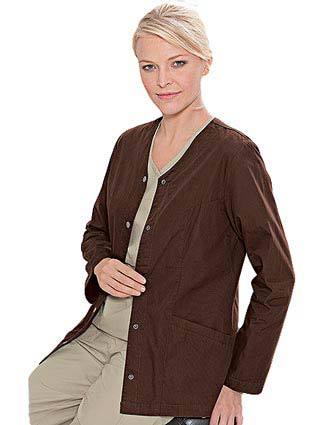 Landau E Women Medical Warm Up Scrub Jacket