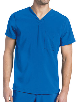 Landau Men's Solid Scrubs V-neck Top
