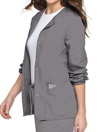 Landau Scrubzone Women Two Pockets Warm Up Nursing Scrub Jacket