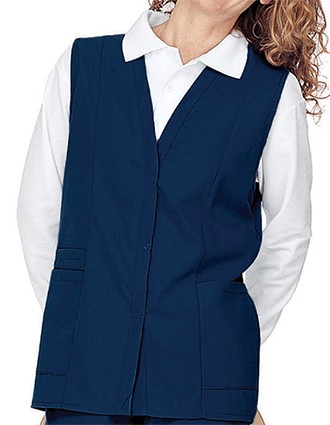 Landau Womens Double Pocket Colored Medical Scrub Vest