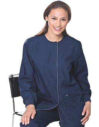 Landau Women Four Pocket Medical Warm Up Scrub Jacket