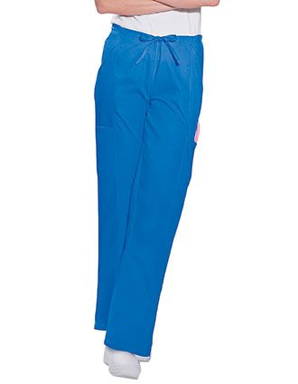 Landau Women Four Pockets Cargo Elastic Waist Medical Scrub Pants
