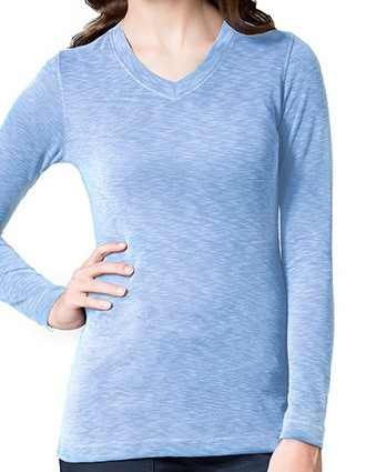 Maevn Knit Women's Long Sleeve Modal Tee