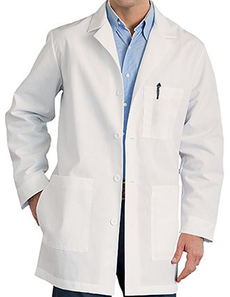 Meta Mens Three Pocket 34 inch Long Medical Lab Coat