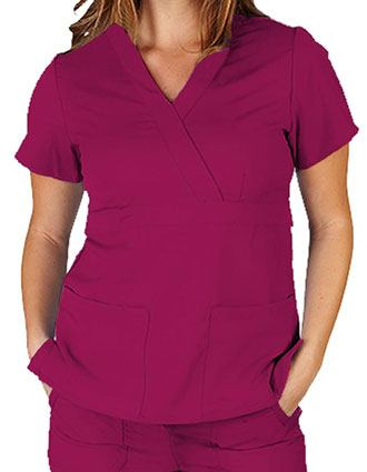 Natural Uniforms Women's Ultrasoft Mock Wrap Scrub Top