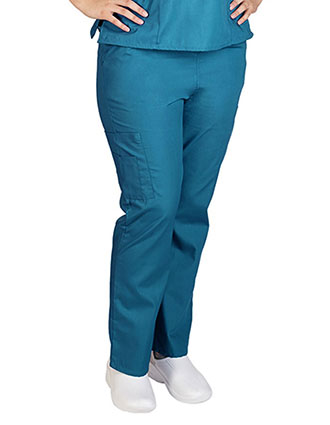 Active Uniform Unisex Petite Solid Cargo Pants