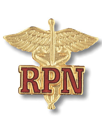 Prestige Registered Practical Nurse Emblem Pin