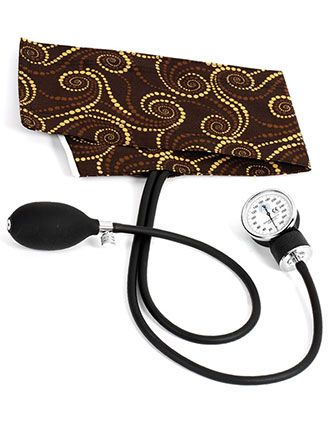 Prestige Basic Adult Aneroid Chocolate Golden Swirls Sphygmomanometer