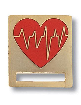 Prestige EKG Heart Badge and Professional Tac