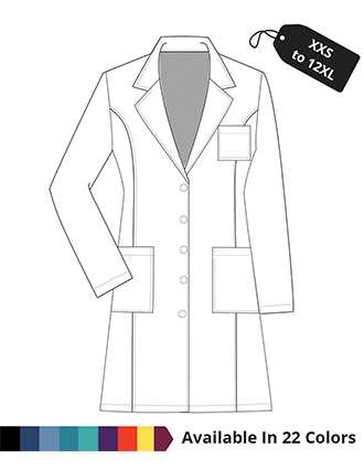 PU Made to Order Women's 37 Inches Long Lab Coat