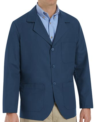 Red Kap Men's Three Pocket 30 Inches Navy Colored Counter Coat