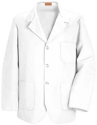 Red Kap Men Three Pocket 30 inch White Counter Coat