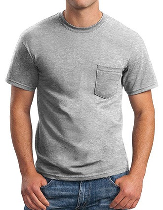 Sanmar Gildan Unisex Single Pocket Ultra Cotton T-Shirt