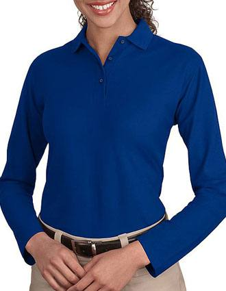 Sanmar Port Authority Womens Silk Touch Long Sleeve Sport Shirt