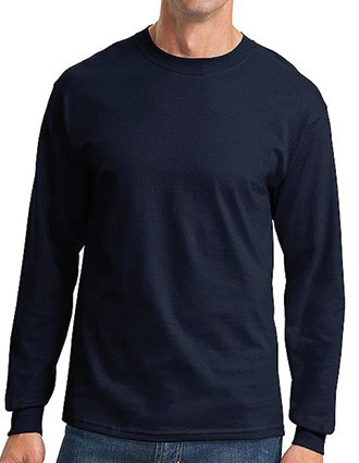 Sanmar Port & Company Cotton Essential Long Sleeve T-Shirt
