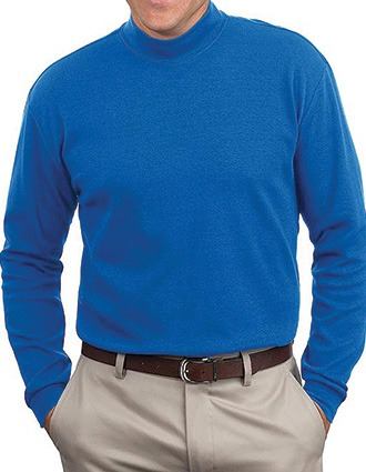Sanmar Port & Company Mens Mock Turtleneck T-Shirt