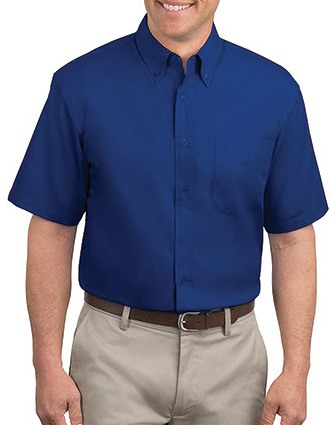 Sanmar Port Authority Men Short Sleeve Easy Care Shirt