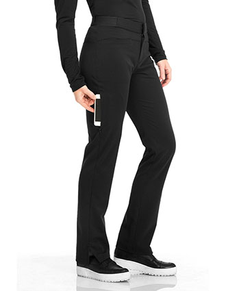 Sapphire Luxury Women's Roma Low Rise Zip Fly Slim Pant