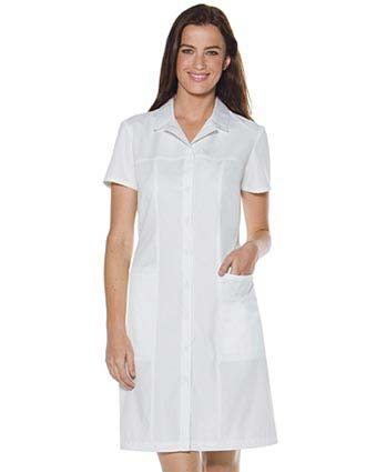 Skechers Womens Two Pocket 37.5 White Button Front Dress