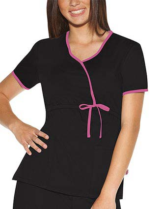 Skechers Womens Two Pocket Twill Mock Wrap Nurse Scrub Top