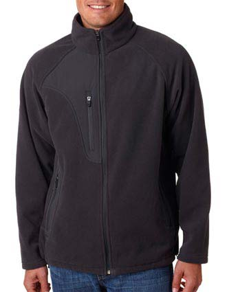 8495 UltraClub Adult Full-Zip Micro-Fleece Jacket With Pocket