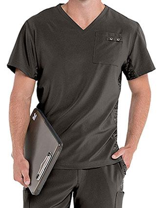 Urbane Performance Men's Quick Cool V-Neck Solid Scrub Top