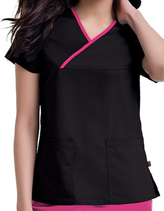 Urbane Women's Mandi Crossover Solid Nursing Scrub Top