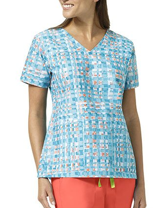 Vera Bradley Signature Women's Abstract Blocks V-neck Printed Top
