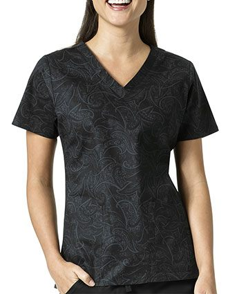 Vera Bradley Signature Women's Sketch Scroll V-neck Printed Top