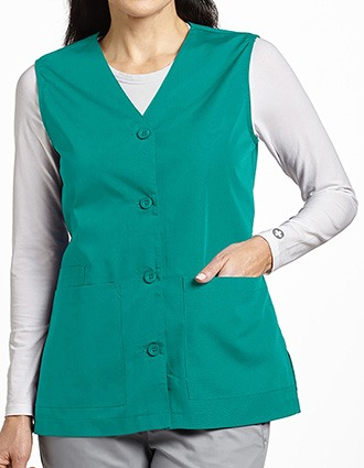 White Cross Women's Button Front vest
