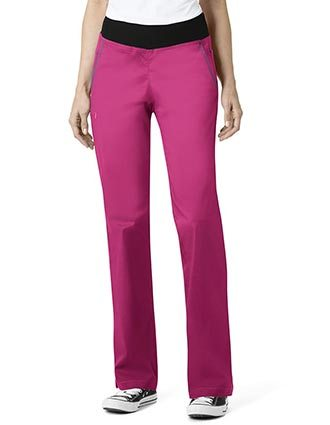 WonderWink Seven Flex Women's Straight Leg Pull On Petite Pant