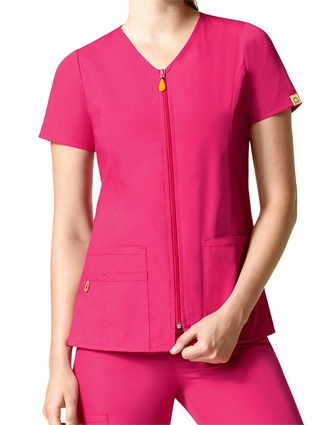 WonderWink Origins Women's The Kilo Zip Front Short Sleeve Jacket