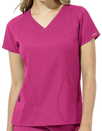 WonderWink WonderTECH Women's V-Neck Solid Scrub Top