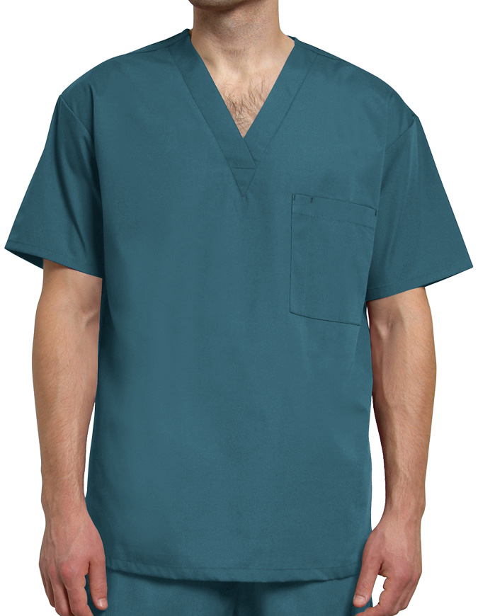 Adar Unisex Single Pocket V-Neck Nursing Scrubs