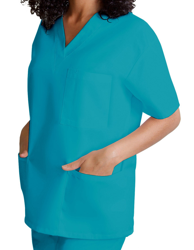 Adar Unisex V-Neck Three Pockets Nursing Scrub Top