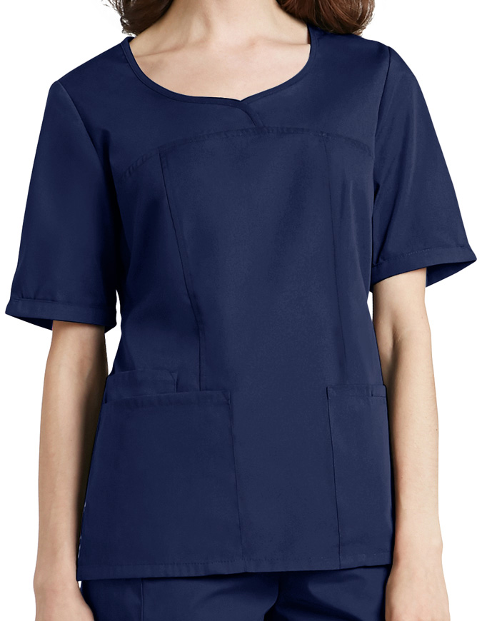 Adar Classic Fit Sweetheart V-Neck Nursing Scrub Top